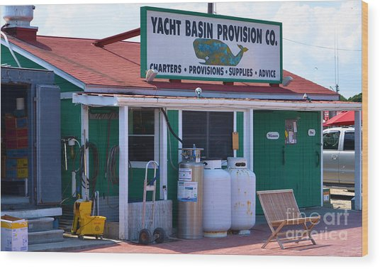 Yacht Basin Provision Co. Wood Print