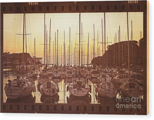 Yacht Harbor In The Late Afternoon Wood Print