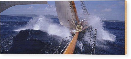Yacht Race, Caribbean Wood Print