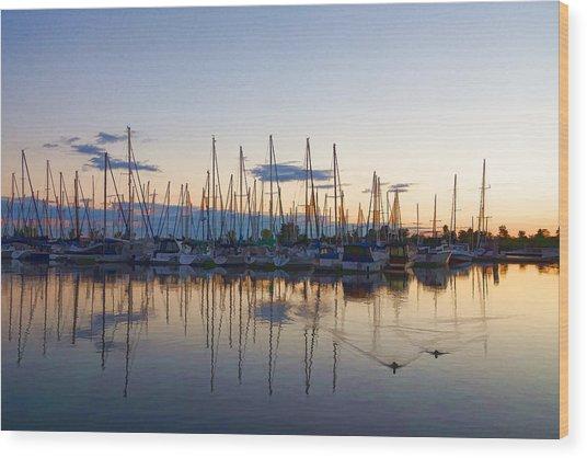 Yachts And Sailboats - Lake Ontario Impressions Wood Print