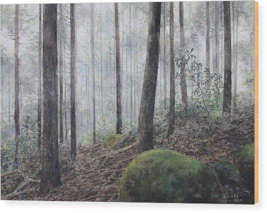 Yakiyama Trail 3 Wood Print by Yuri Ozaki