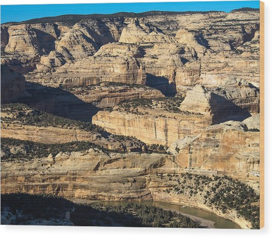 Yampa River Canyon In Dinosaur National Monument Wood Print
