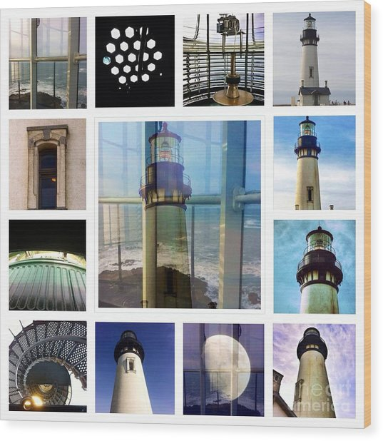 Yaquina Head Lighthouse Essence  Wood Print