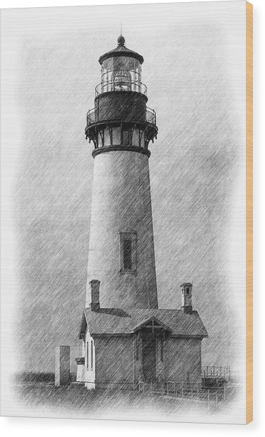 Yaquina Lighthouse Wood Print