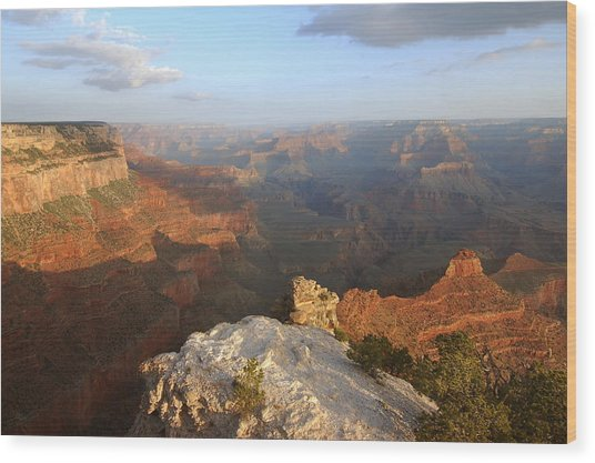 Yavapai Point Morning Wood Print by Stephen  Vecchiotti