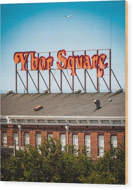 Ybor Square Wood Print by Ybor Photography