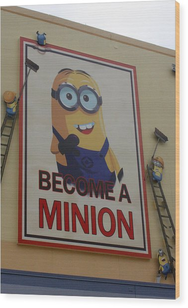 Year Of The Minions Wood Print