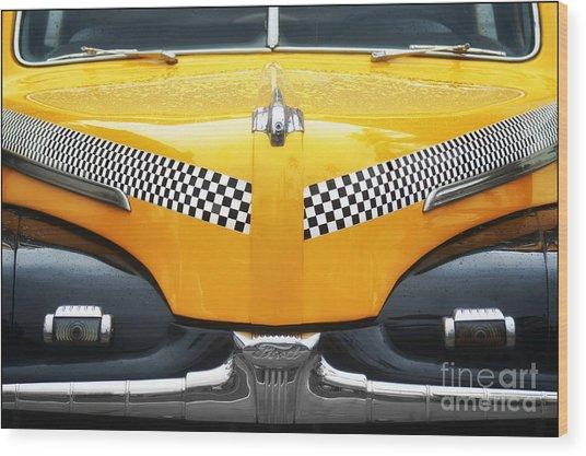 Yellow Cab - 1 Wood Print by Nikolyn McDonald