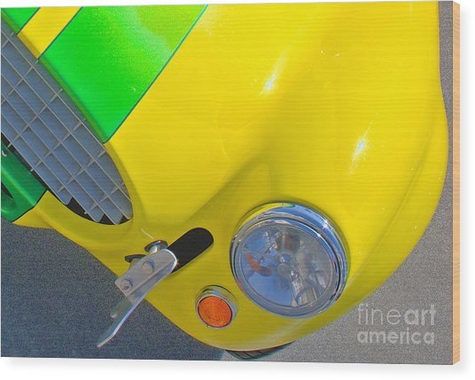 Yellow Cobra Wood Print by Hot Rod Pics