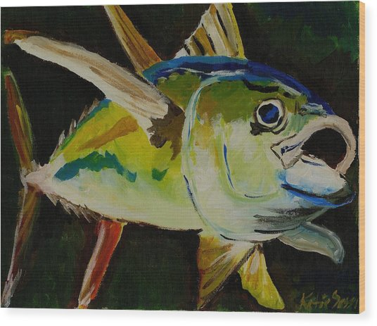 Yellow Fin Tuna Wood Print