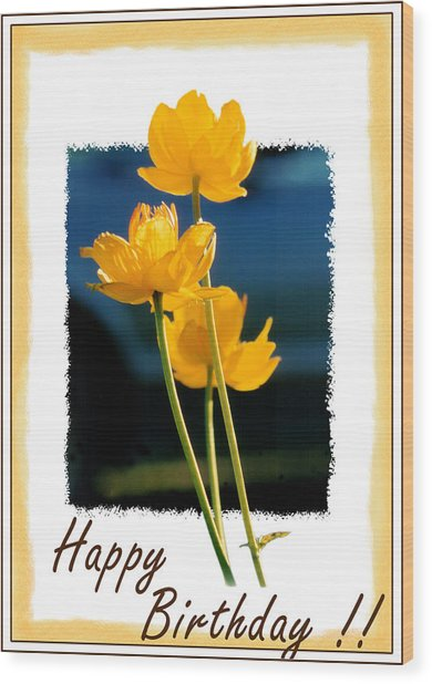 Yellow Flower 1 Wood Print