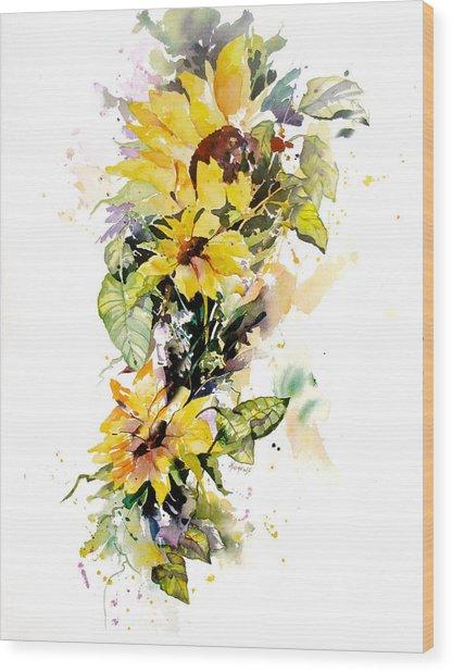 Yellow Majesty Wood Print
