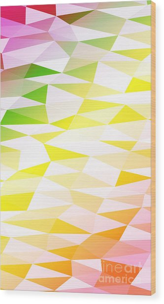Yellow, Orange, Pink, Multicolor Wood Print