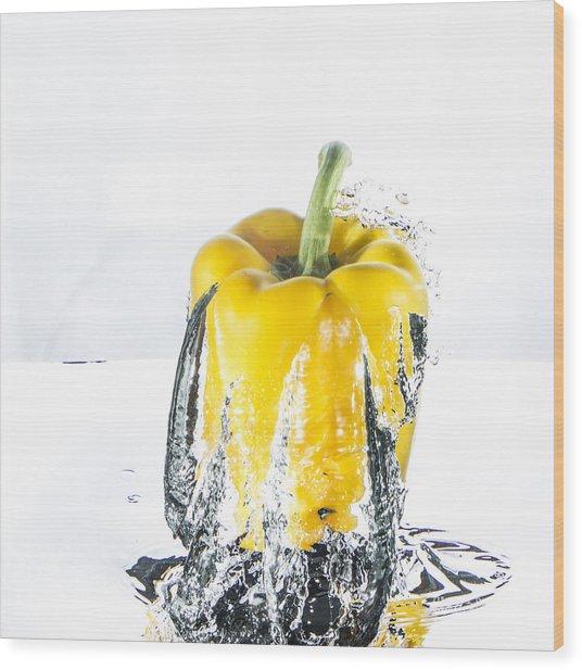 Yellow Pepper Rocket Wood Print