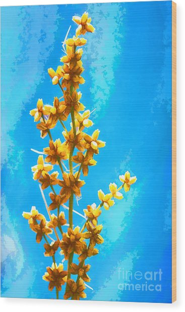 Yellow Plant Wood Print