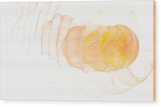 Yellow Splash Wood Print by Mark Bowden