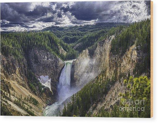 Yellowstone Canyon Lower Falls Wood Print