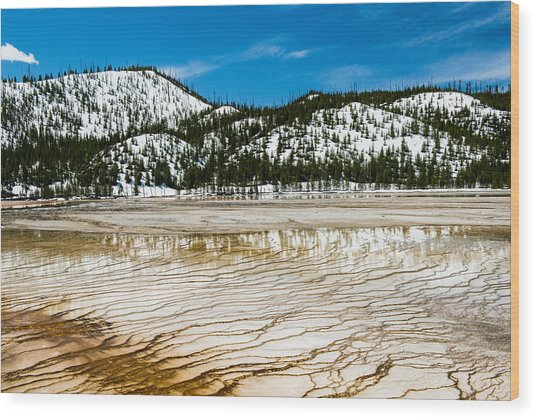 Yellowstone Crackle Wood Print