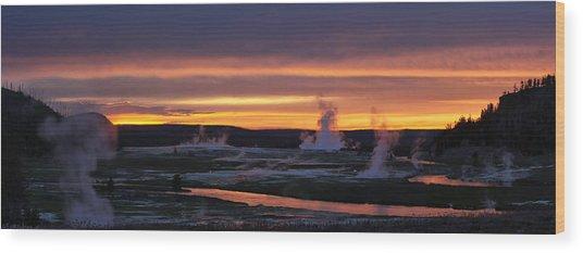 Yellowstone Wood Print by Darryl Wilkinson