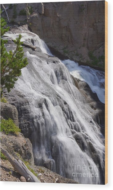 Yellowstone Gibbon Falls Wood Print