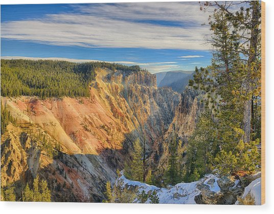 Yellowstone Grand Canyon East View Wood Print