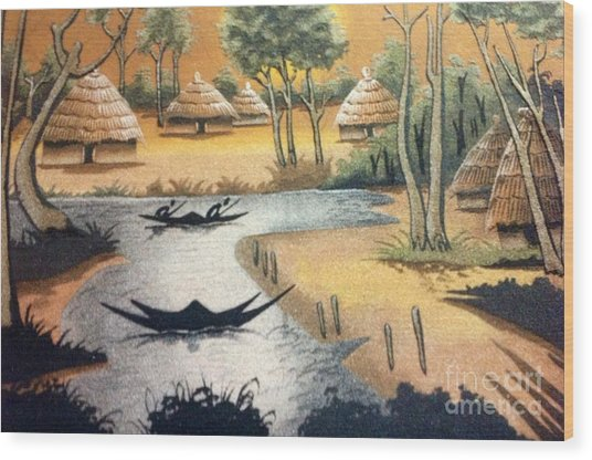 Yesayah Village  Wood Print