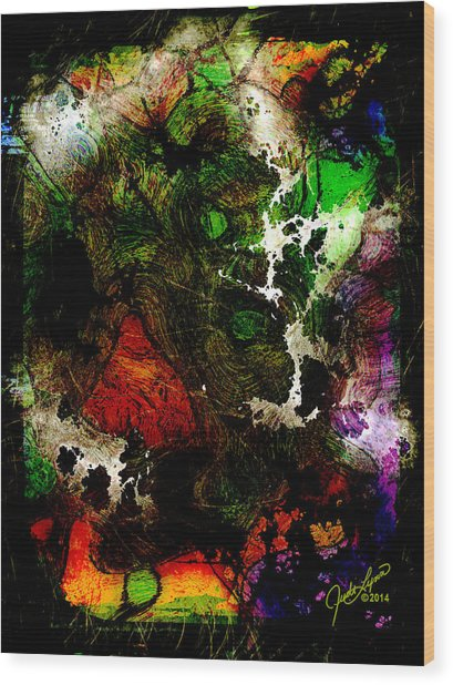 Synapsis Wood Print