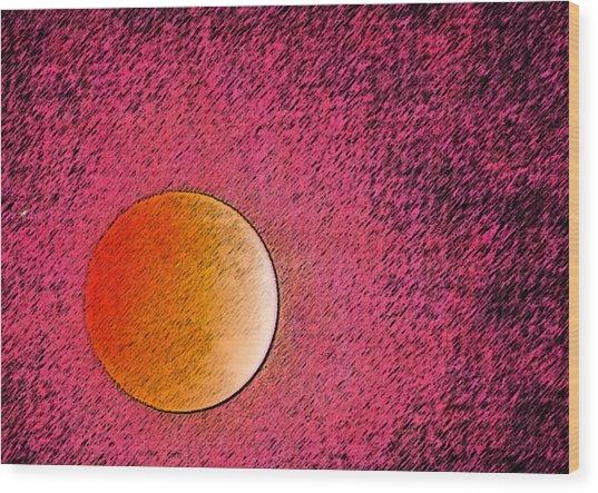 Yet Another Blood Moon Wood Print by Carolina Liechtenstein