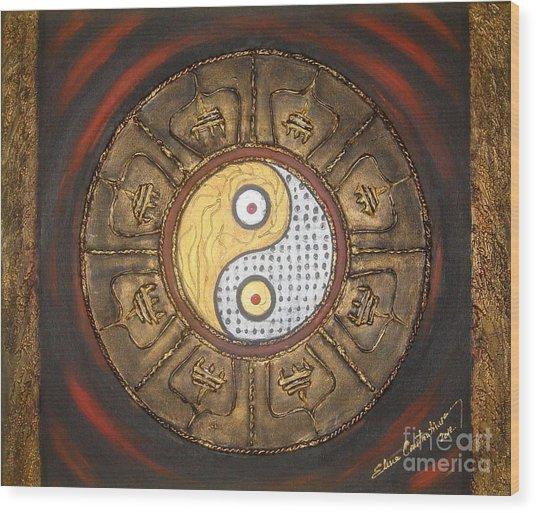Yin Yang Balance Wood Print