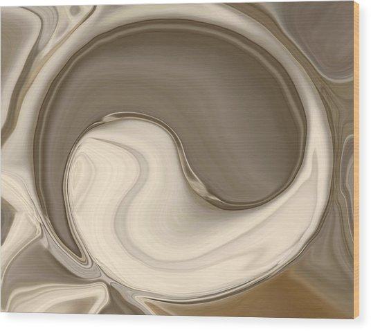 Yin Yang Wood Print by Chad Miller