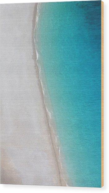 Yin Yang Coast Wood Print