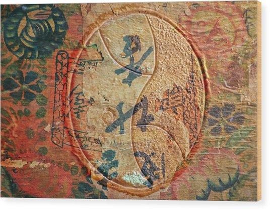 Yin-yang Expressions Wood Print