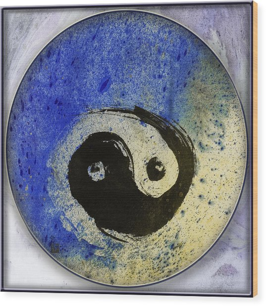Yin Yang Painting Wood Print