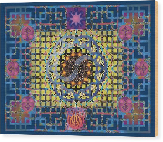 Yin Yang Star Wood Print