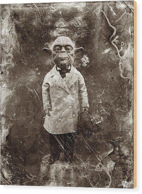 Yoda Star Wars Antique Photo Wood Print