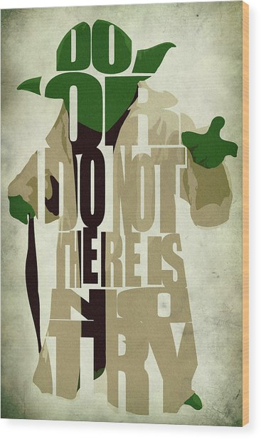 Yoda - Star Wars Wood Print