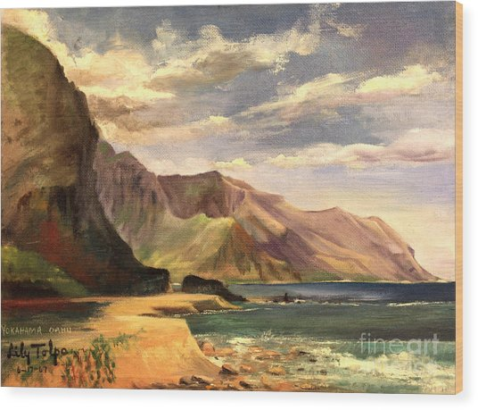 Yokahama Bay Oahu Hawaii - 1960's Wood Print