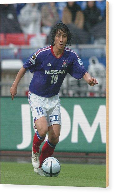 Yokohama F. Marinos V Urawa Red Diamonds - J.league 2005 Wood Print by Etsuo Hara