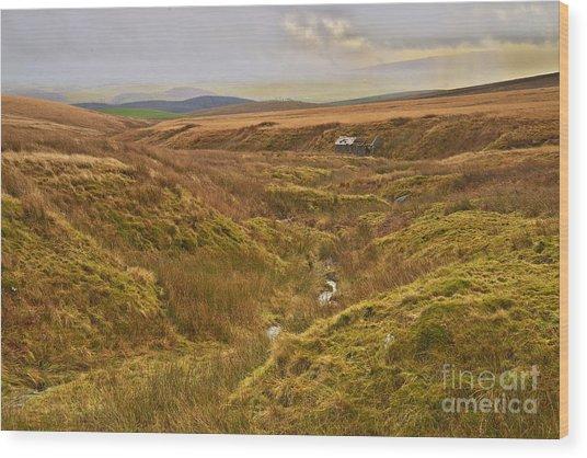 Yorkshire Dales Moorland Wood Print