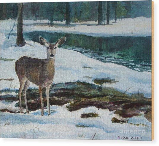 Yosemite Deer Wood Print