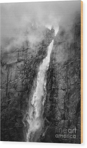Yosemite Fall Wood Print