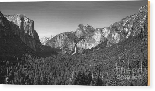 Yosemite Inspiration Point Wood Print