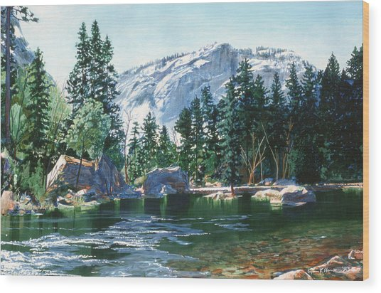 Yosemite Mirror Lake Wood Print
