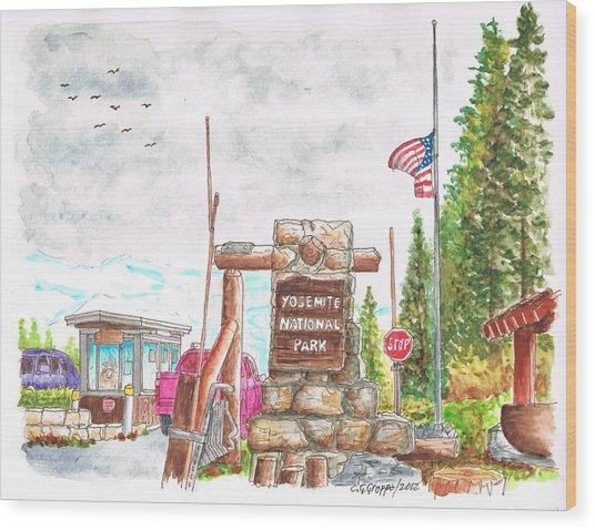 Yosemite National Park Ca-tioga Pass Entrance Wood Print by Carlos G Groppa