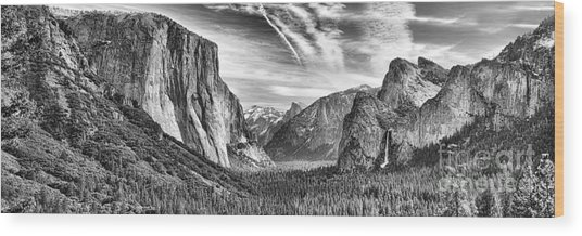 Yosemite Panoramic Wood Print