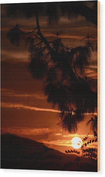 Yosemite  Sunset Wood Print