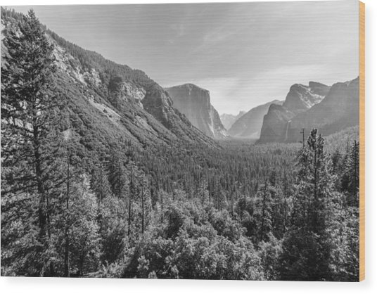 Yosemite Tunnel View Wood Print
