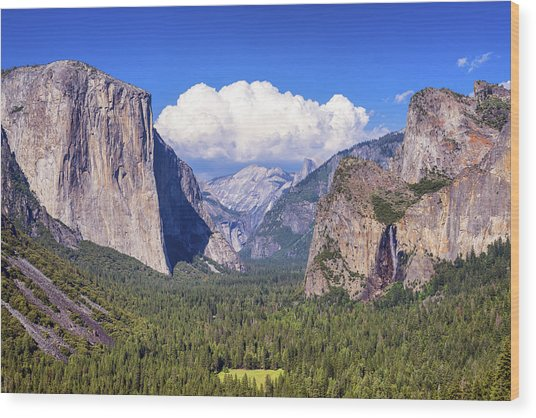 Yosemite Valley Beauty Wood Print