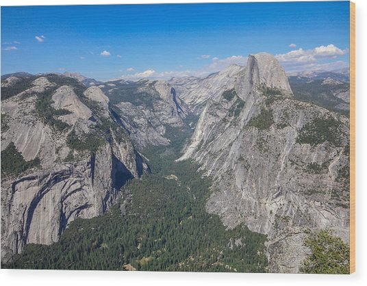 Yosemite Valley From Above Wood Print