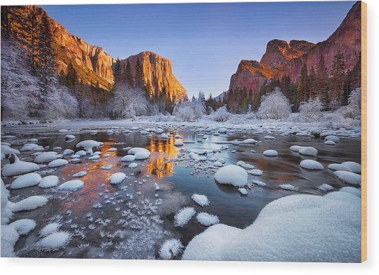Yosemite Valley Wood Print by Lincoln Harrison